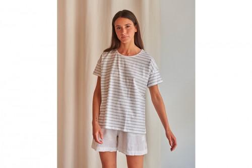 Camiseta MUS&BOMBON BASEICO RAYAS gris