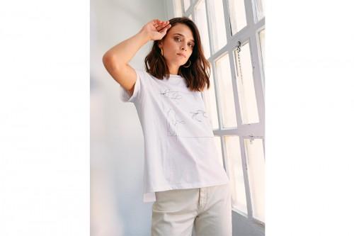 Camiseta MUS&BOMBON FICUS blanca