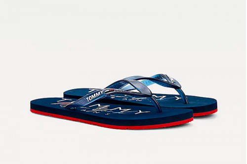 Chanclas TOMMY HILFIGER RUBBER THONG Azules