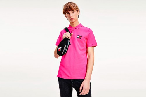 Polo TOMMY HILFIGER BADGE rosa