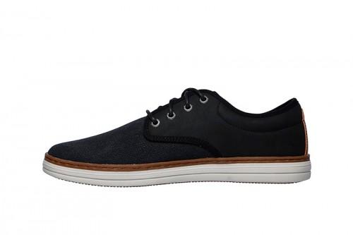 Zapatos SKECHERS  HESTON- SANTANO negros